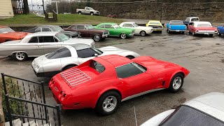 Classic Muscle Car Lot Full Walk Maple Motors