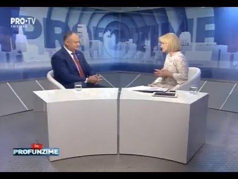 Emisiunea InPROfunzime cu Lorena Bogza. Invitat: Presedintele RM, Igor Dodon