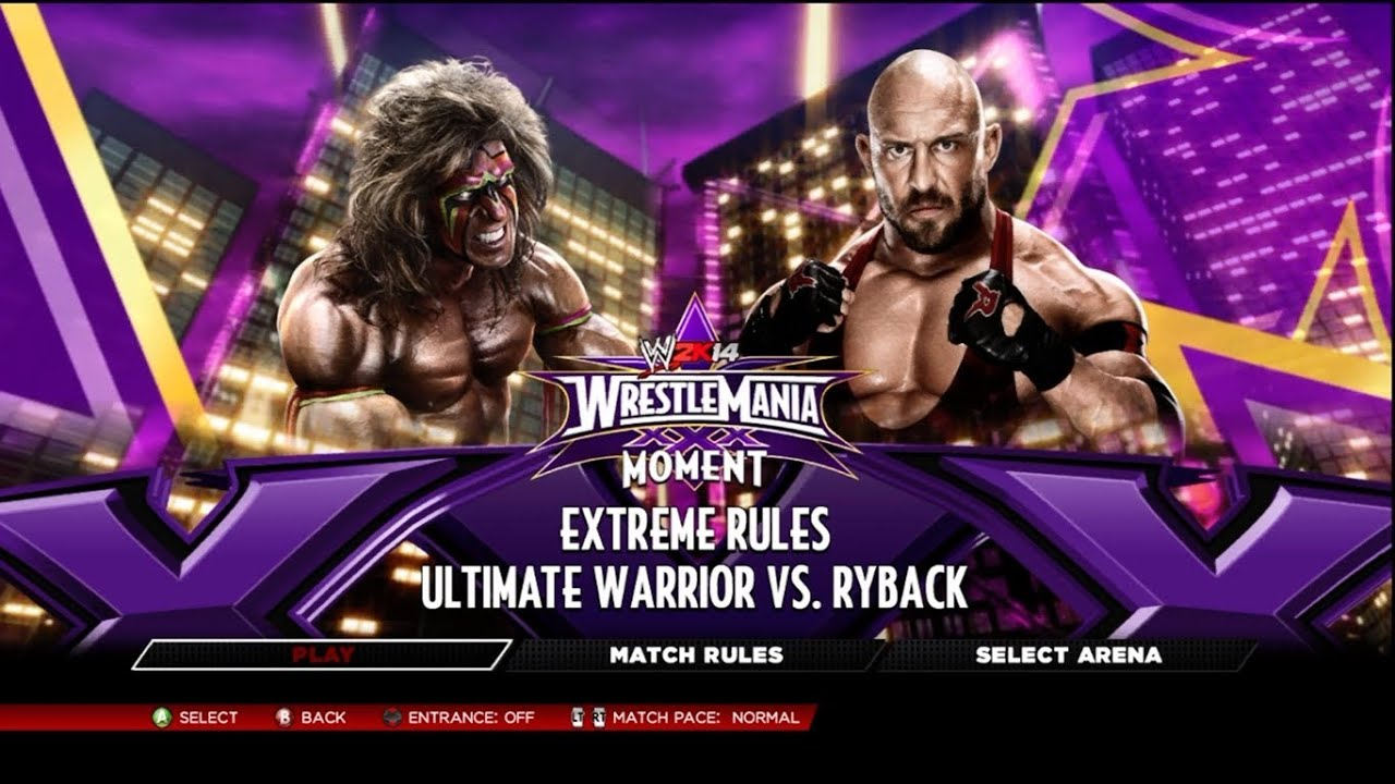 WWE 2K14 - Ultimate Warrior vs Ryback Wrestlemania 30 on ...