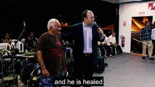 He had a lump in his trhoat, see what Jesus did!