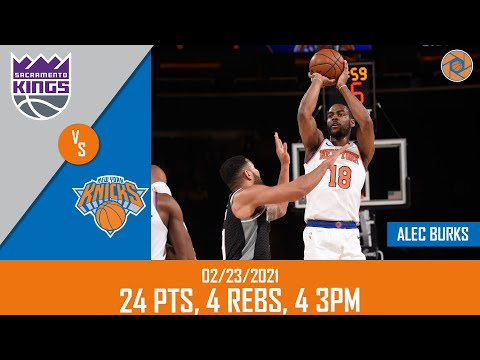[Highlights] Alec Burks loses his mind and scores 15 consecutive Knick points (5 straight 3s) in the 4th quarter