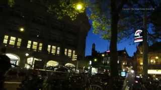 Amsterdam At Night - Walk To The Bulldog Coffee Shop On Leidseplein In Holland