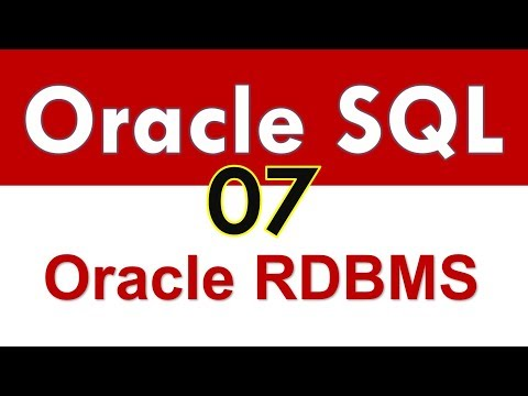 Oracle SQL Developer Tutorial For Beginners - 07 - Quick overview of Oracle RDBMS Architecture