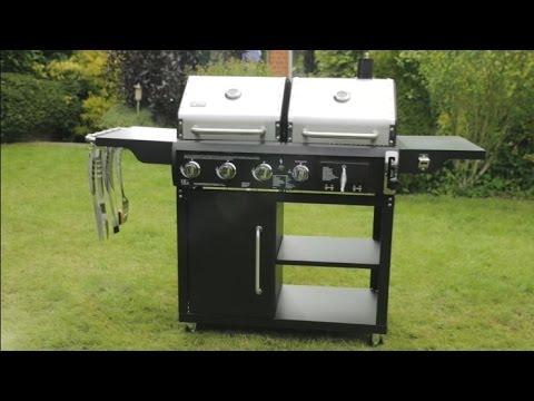tepro charcoal gas combo grill buffalo youtube. Black Bedroom Furniture Sets. Home Design Ideas