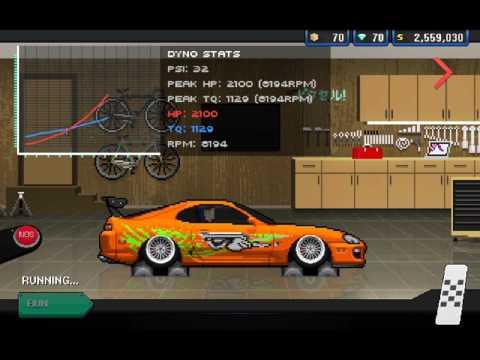 Pixel Car Racer-(Building paul walkers Supra)