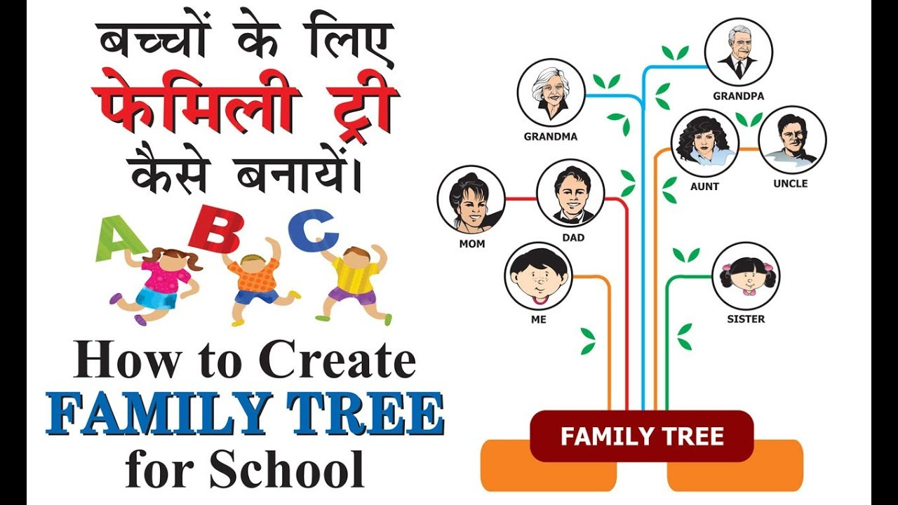how to make family tree in coreldraw for kids project for school in