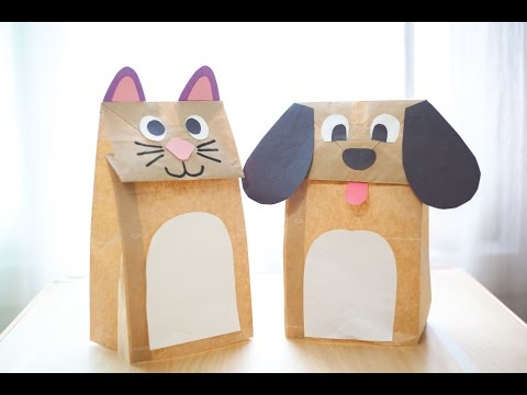 [Torywell Craft] 002 Paper bag pet | 종이봉투 애완동물 만들기 | Paper Craft