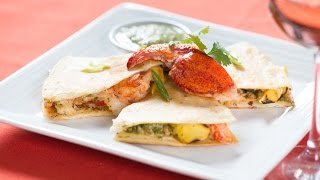 Maine Lobster And Mango Quesadilla With Tomatillo Salsa