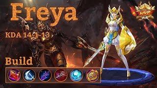 Mobile Legends: Freya MVP, Top Build And 5000 Diamonds Gift! :O