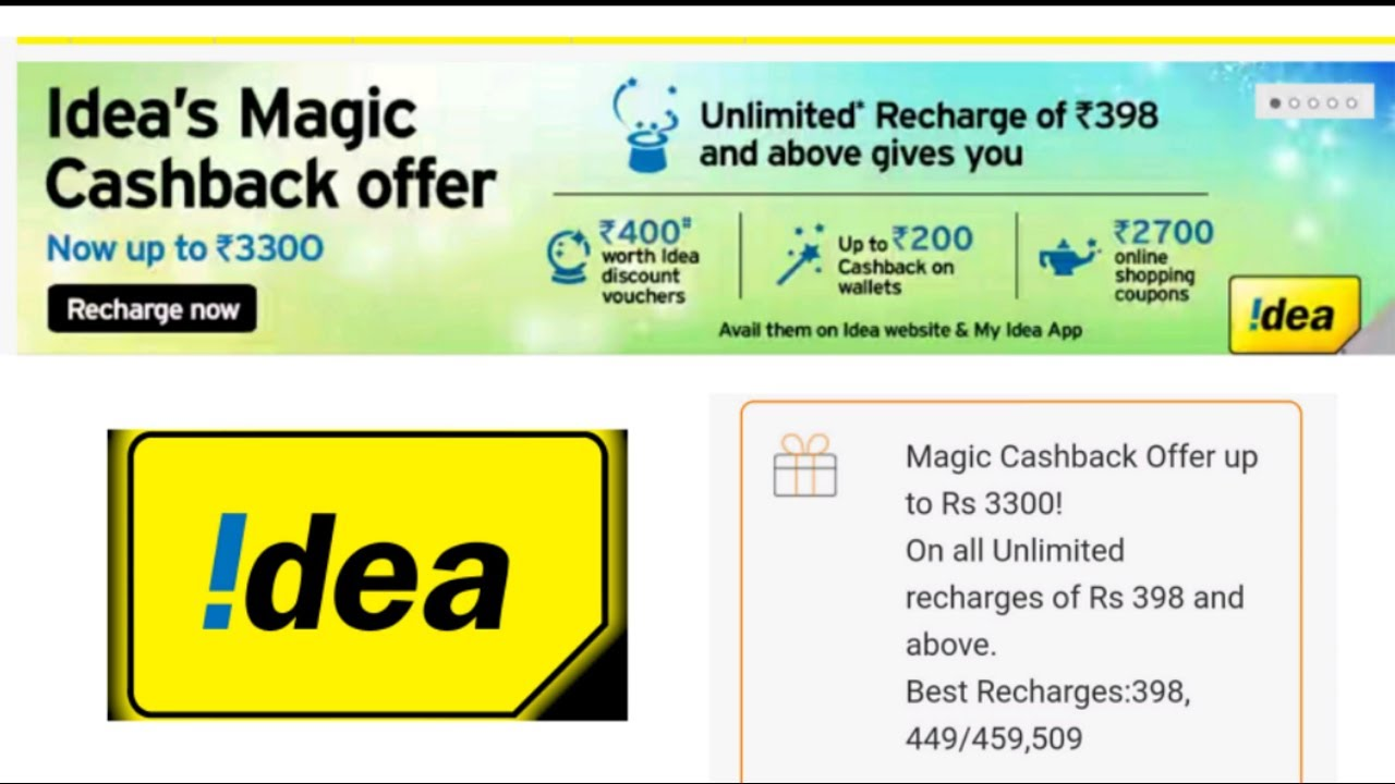 Idea 3g Data Mobile Recharge Plans