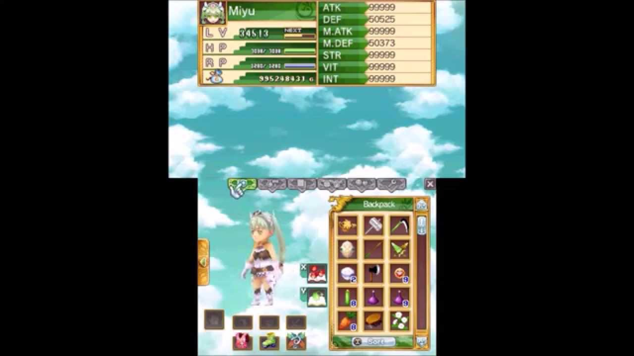 Rune Factory 4 all Girls Clothes ( except Wedding Dress )   YouTube