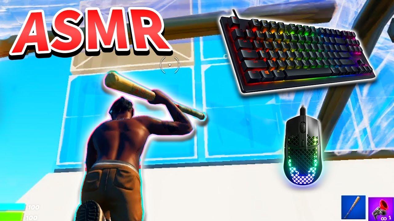 【ASMR】リラックスできる建築最速のキーボード音😍 【フォートナイト・Fortnite】