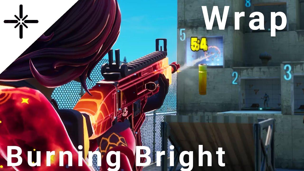 "NEW ""Burning Bright"" Fortnite Wrap Gameplay Showcase"