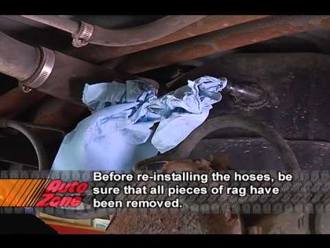 Fuel Filter How To Remove The Fuel Tank Youtube