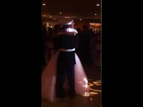 US MARINE surprises sister at sweet 16 party.