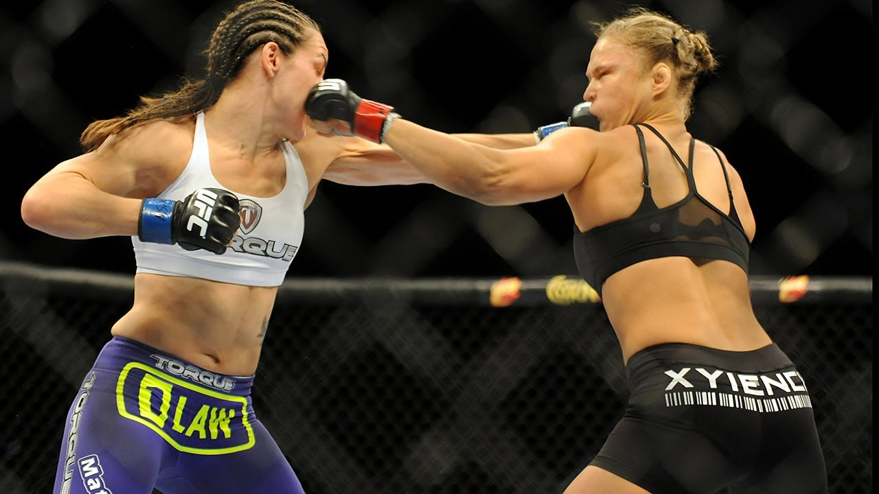 Download Ronda reacts to her epic KO against Alexis Davis