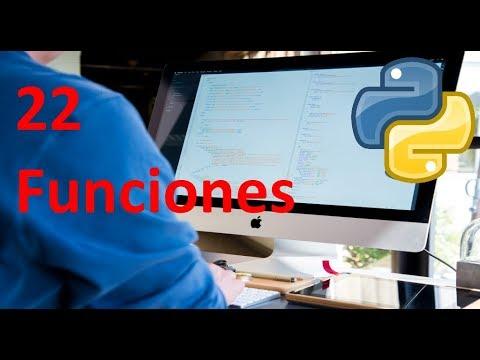 Funciones - 22 - Python tutorial en español thumbnail