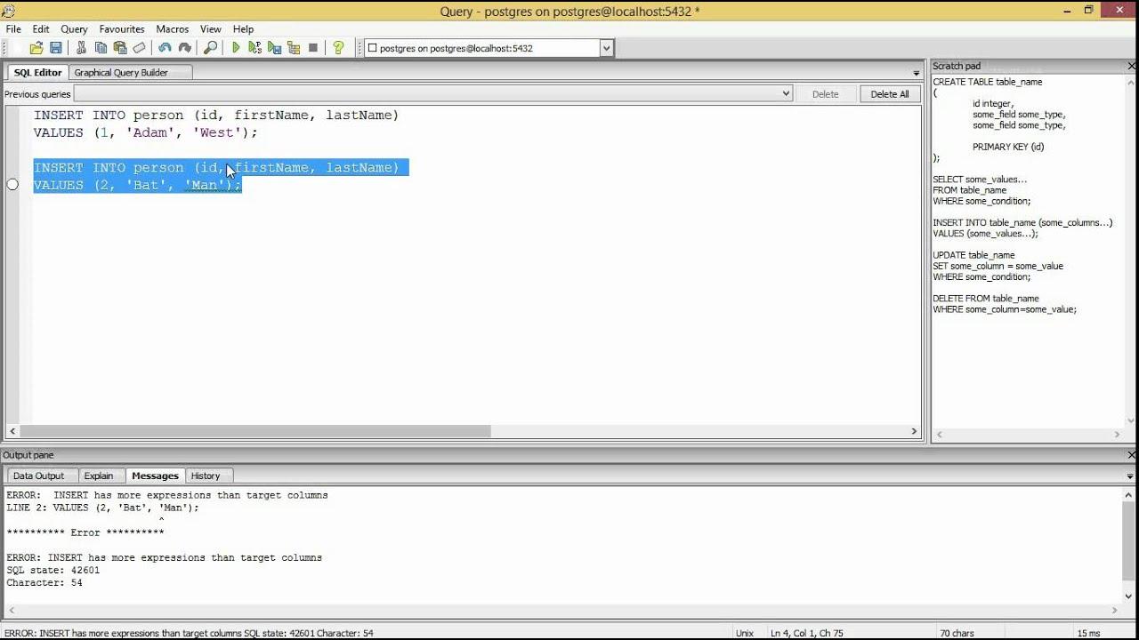 Introduction to SQL with PostgreSQL and pgAdmin III (pgAdmin 3)