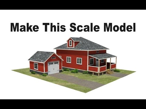 Scale Model Houses | Make these model railroad houses in HO scale, OO, or N scale