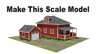 Ölçekli Model Evler HO ölçekli, OO, veya N ölçekte bu modeli demiryolu evler Yapmak  