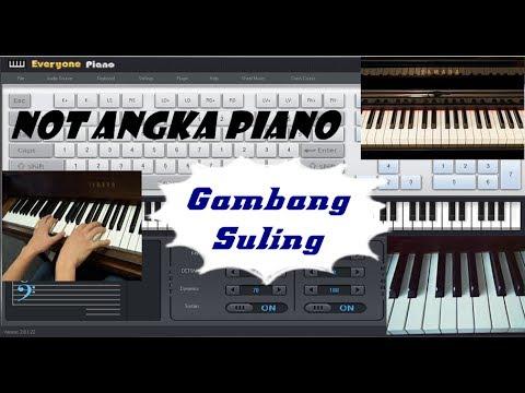 Not Angka Gambang Suling l Lagu Daerah