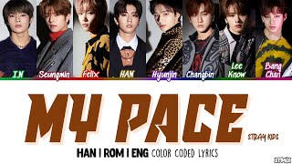 Download Lagu [OT8 VER] Stray Kids (스트레이 키즈) - MY PACE Color Coded [Han|Rom|Eng] Lyrics mp3