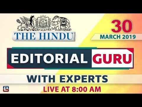 The Hindu   Editorial Guru    30 March 2019   UPSC, RRB, Bank, IBPS, SSC   8:00 AM