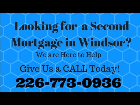 Second Mortgage Bad Credit Windsor 1-226-773-0936
