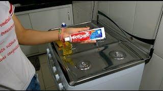 Como tirar manchas do fogão com creme dental thumbnail