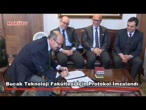 Bucak Teknoloji Fakültesi İçin Protokol İmzalandı