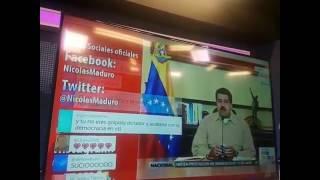 maduro bombardeado en vtv por twitter