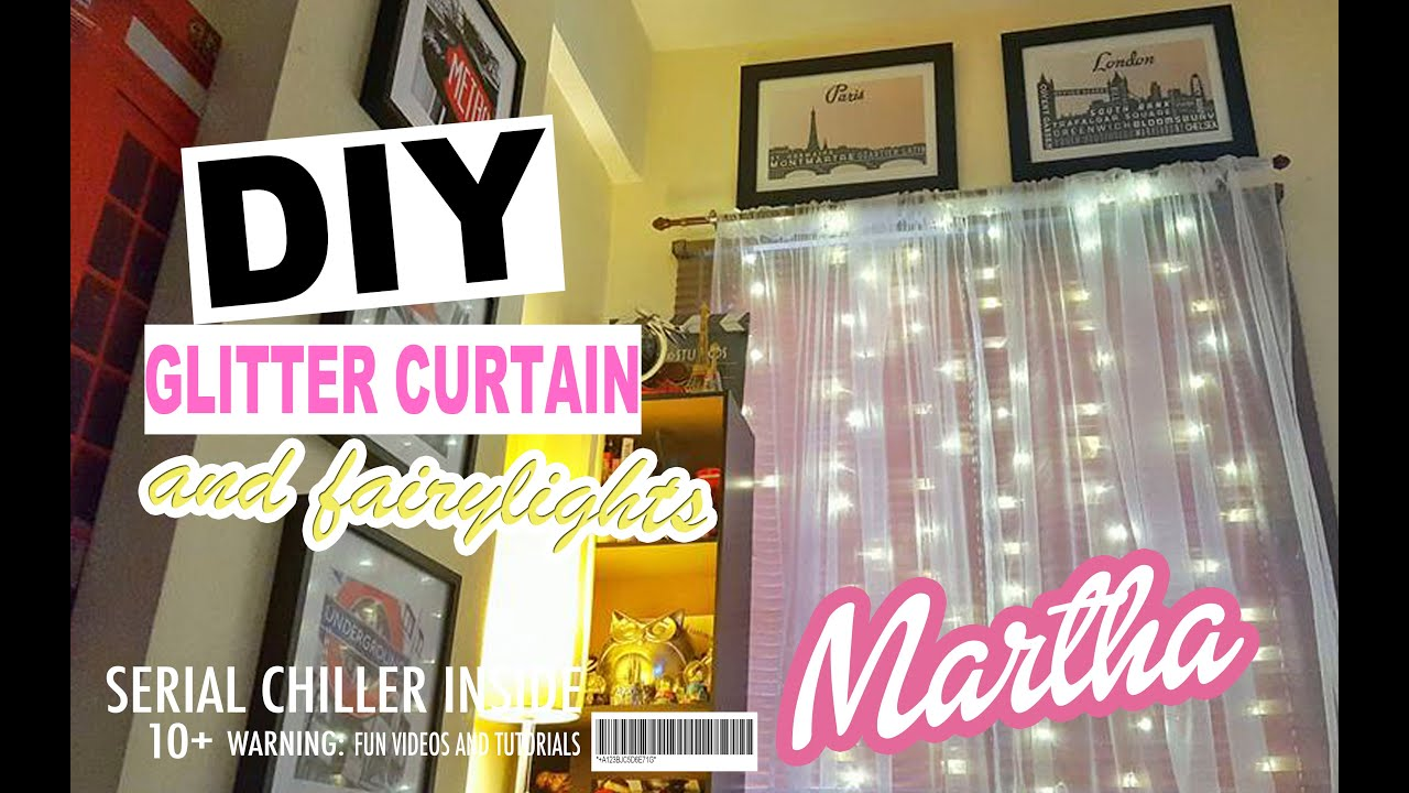 Diy curtains with fairy lights do it yourself youtube solutioingenieria Images