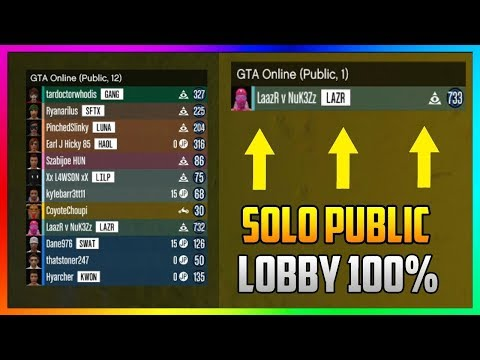 How to Join Solo Public Lobby on Xbox One, PS4 & PC | WORKING SOLO PUBLIC LOBBY GLITCH (GTA Online)