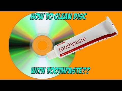 How to clean disc with toothpaste