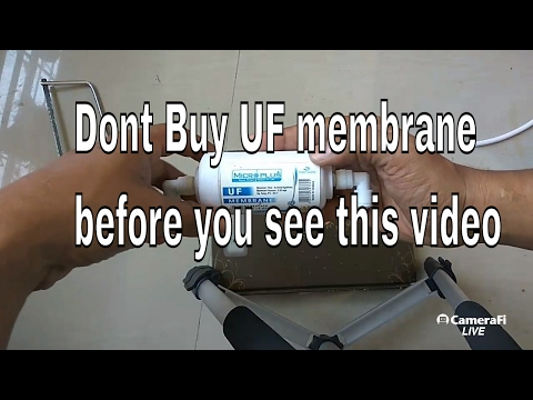 UF membrane SCAM ; you won't trust small UF Membranes after watching