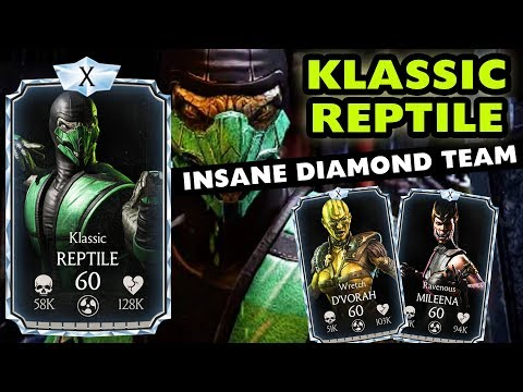 MKX Mobile 1.18. Klassic Reptile MAXED Gameplay. Best Character in the Update! Epic DOT Diamond Team