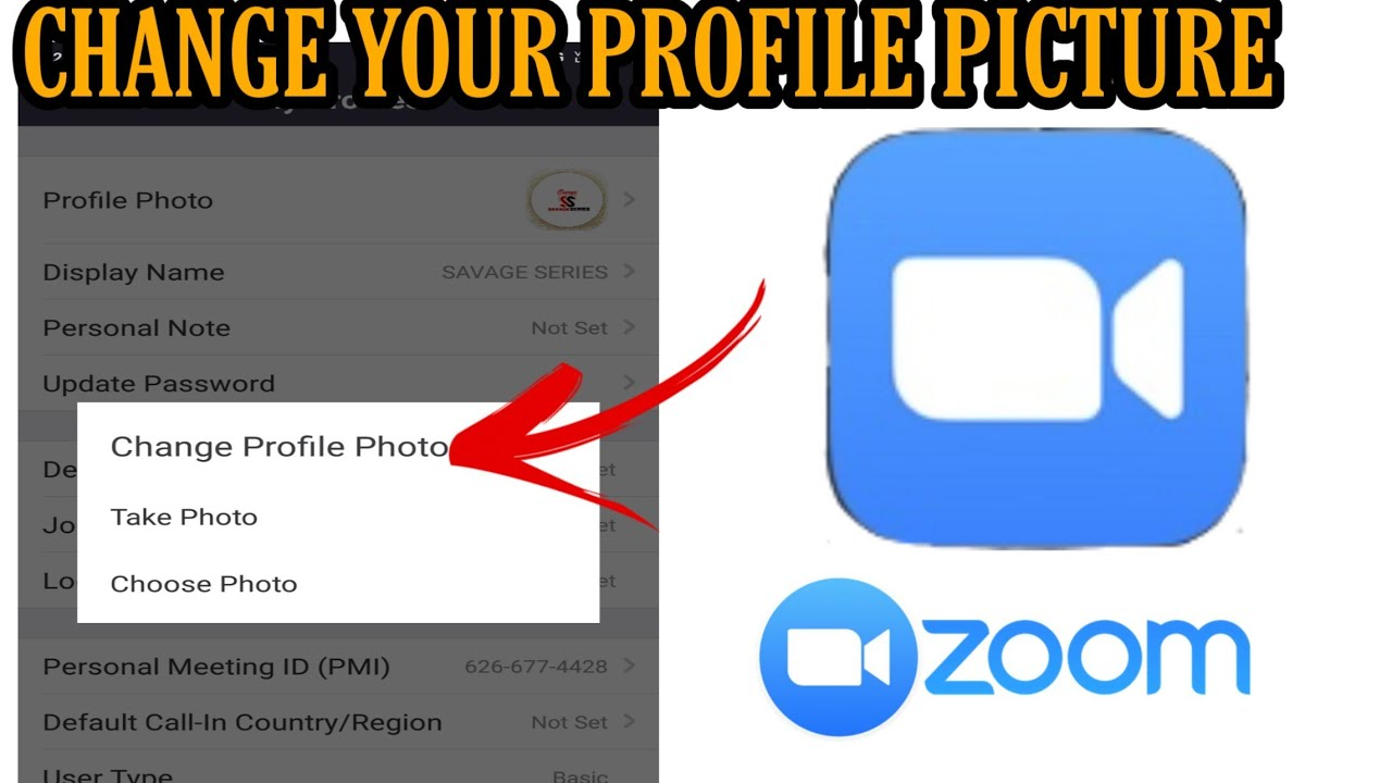 How to change profile picture on zoom cloud meeting app ...