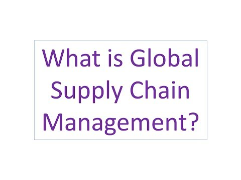 What is Global Supply Chain Management?