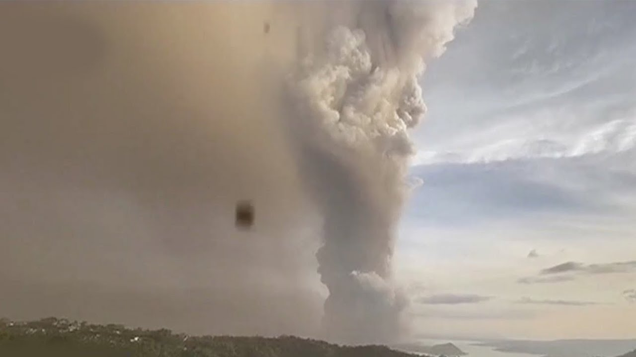 Taal Volcano erupts near Manila in the Philippines, spewing smoke ...