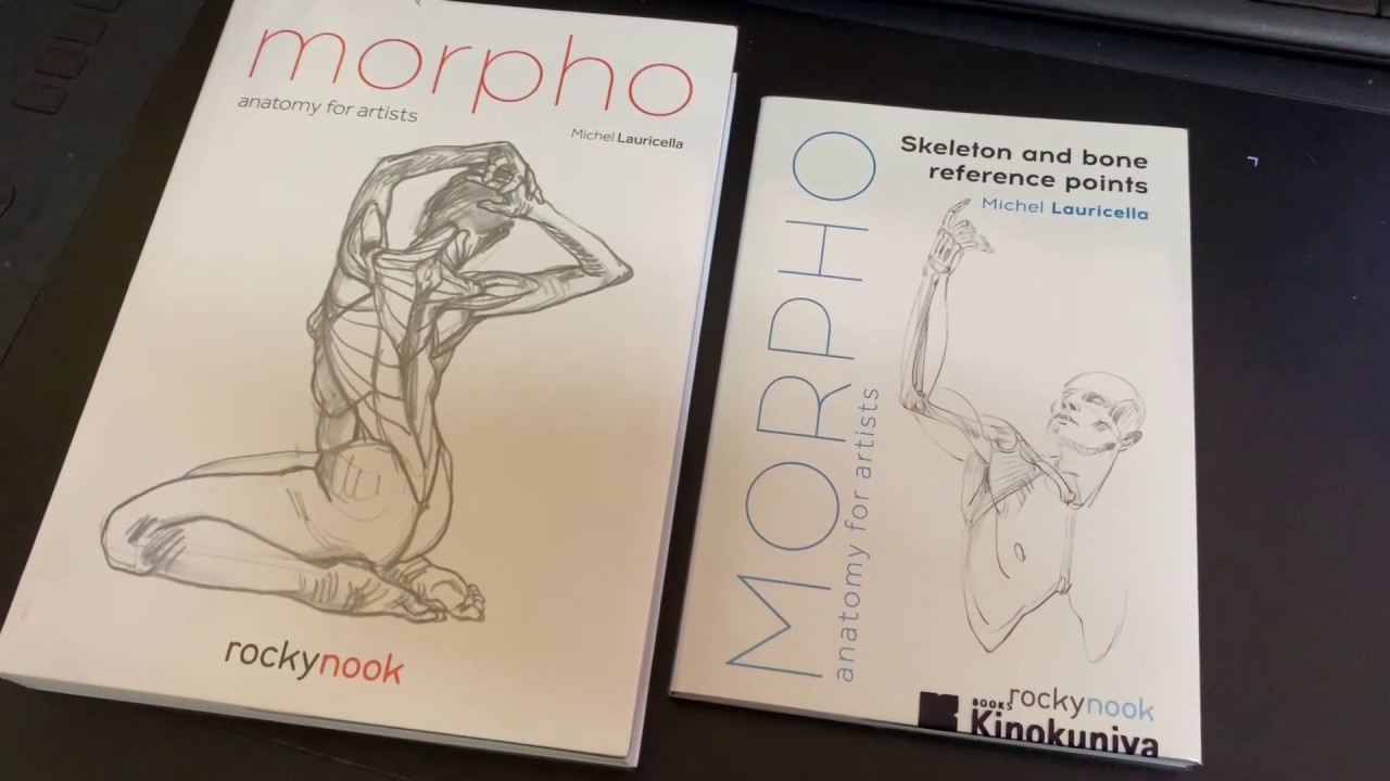 Morpho: Anatomy for Artists and Skeleton and Bone Reference Points book  flip through