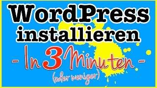 WordPress installieren - In weniger als 3 Minuten mit Alfahosting zur eigenen Website