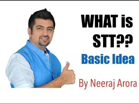 What is STT | Securities Transaction Tax | Concept & Logics