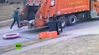 ¿Cómo se divierten en el trabajo los basureros?