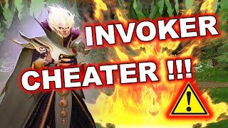 Dota 2 Cheater - INVOKER using AUTO Sun Strike + FULL SPELL COMBOS!