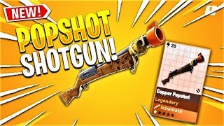 *NEW* COPPER POPSHOT GAMEPLAY in FORTNITE - How To get COPPER POPSHOT Shotgun! (Week Two Warrior)
