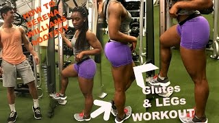 Glutes Workout! Get |Natural Butt Exercises||strong legs|firm Gluts|Serena Williams Butt