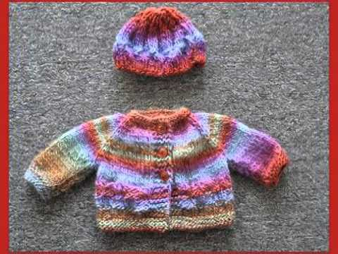 Baby Sweater And Hat Knitting Patterns Youtube