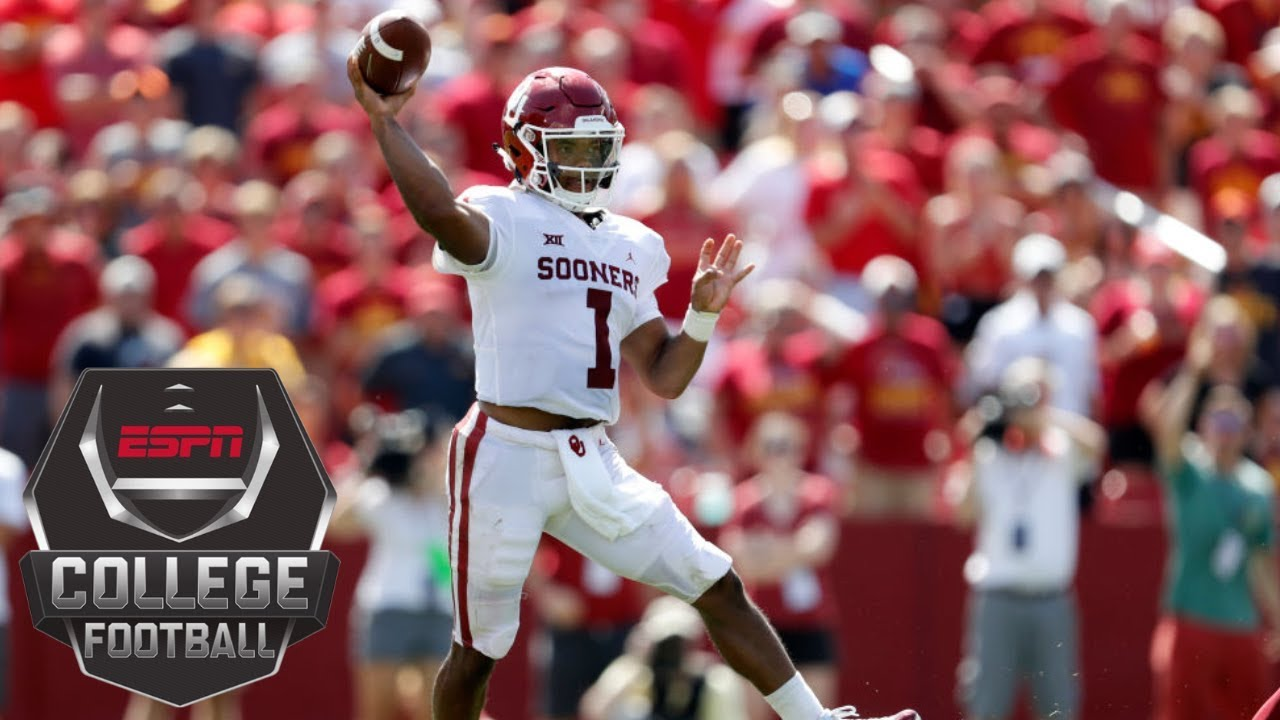 b5189614c College Football Highlights  Kyler Murray s 3 TD passes lifts No. 5 Oklahoma  over Iowa State