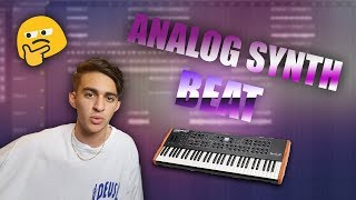 MAKING A BEAT WITH AN ANALOG SYNTH - FL STUDIO BEATMAKING
