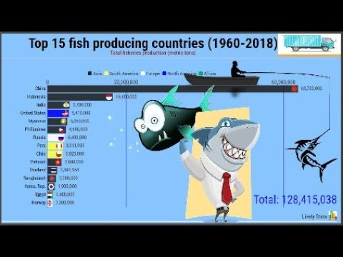 Top 15 Fish Producing Countries 1960 To 2018🍣🐟🐠